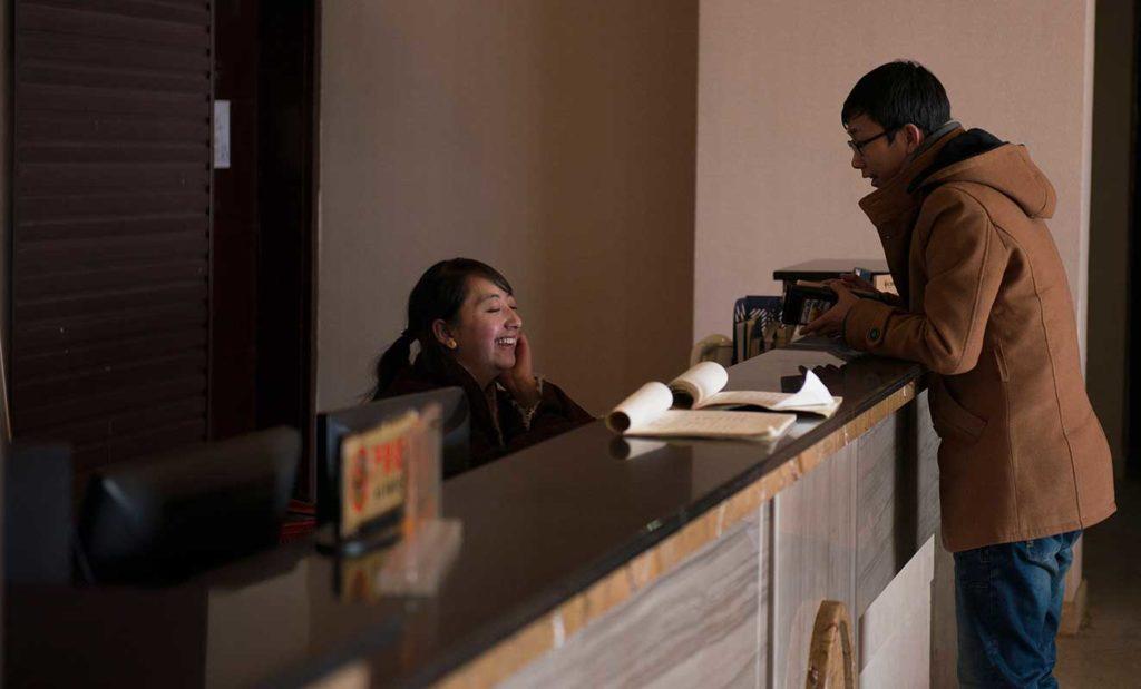hostel receptionist