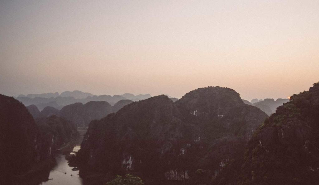 sunset near Hang Mua