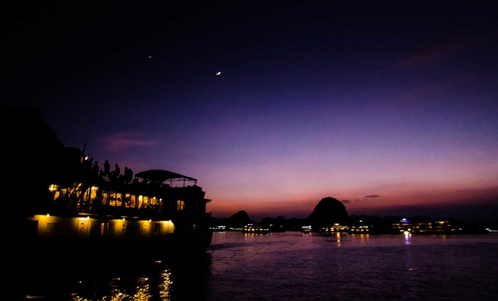 ha long bay at night